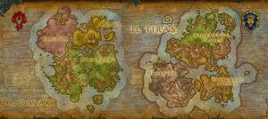 wow warcraft battle for azeroth mapas maps kul tiras tiraz zandalar
