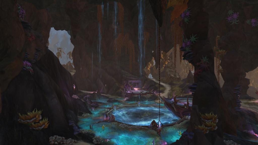 """Com sua temática """"elfos noturnos no aquário"""" Nazjatar é linda."""