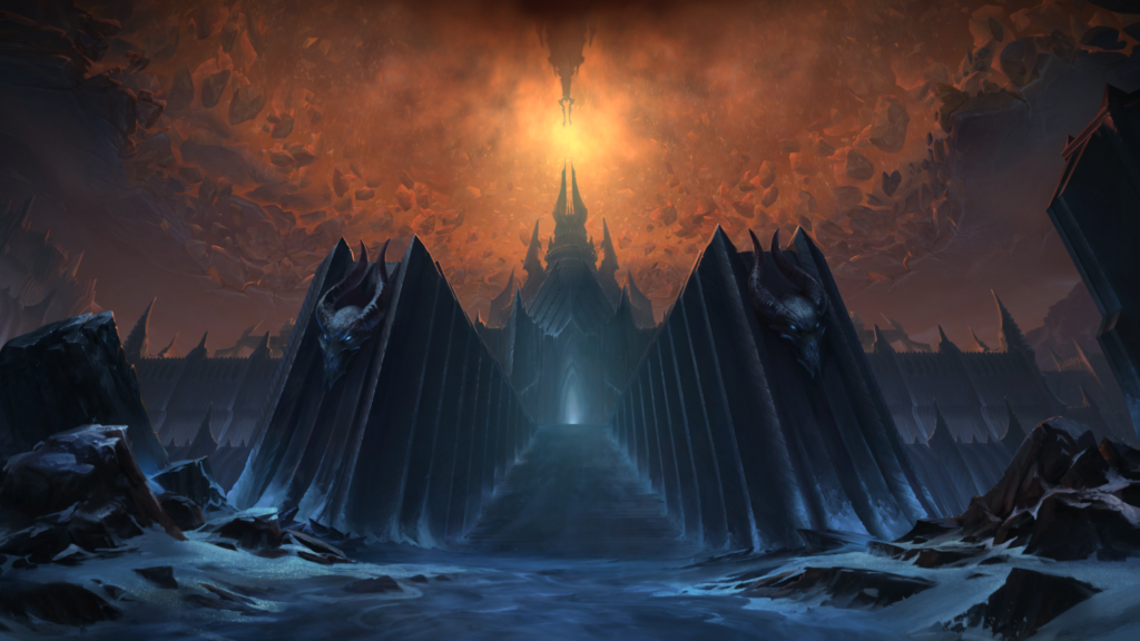 wow world of warcraft shadowlands login screen tela musica tema Through the Roof of the World